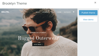 shopify brookly theme how to not go straight to checkout