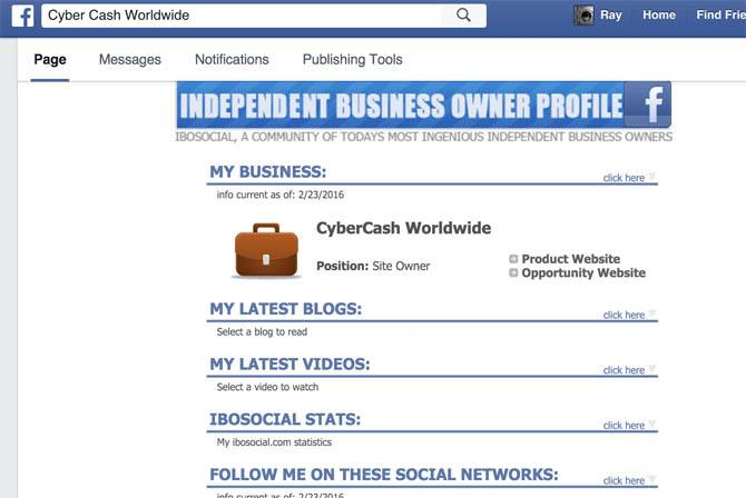 IBO Toolbox Facebook App
