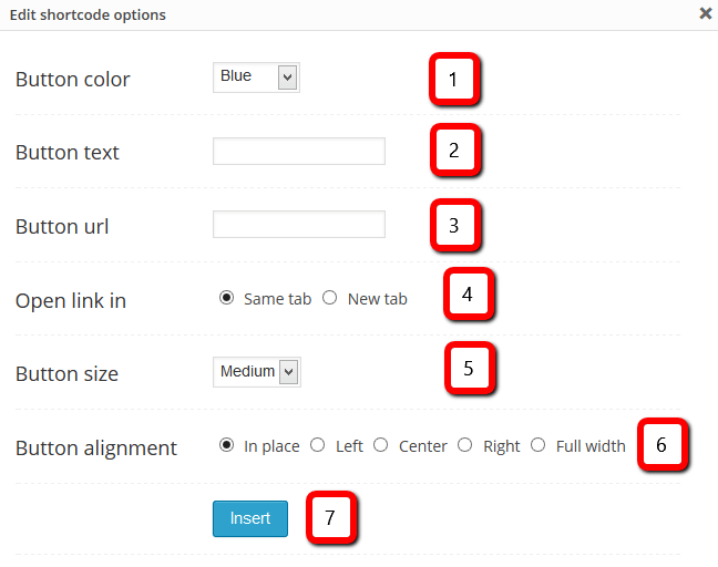 Short Code Button