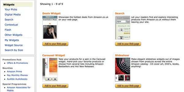 Amazon Widgets (UK)