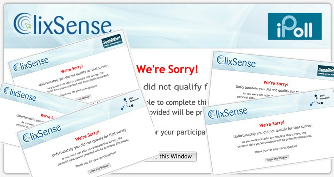 ClixSense Survey Not Working