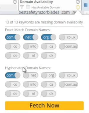 Fetch domain availability