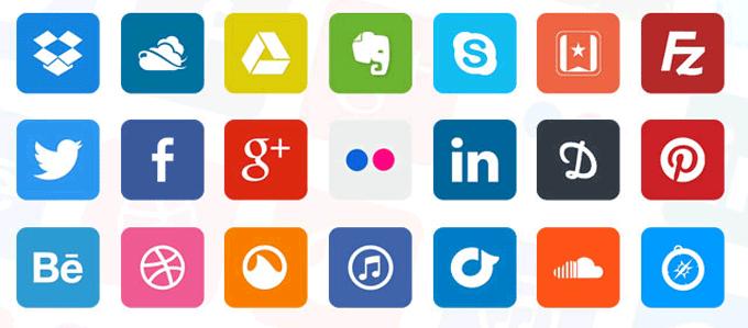 Social media accounts for Hootsuite
