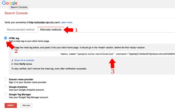 Google Webmaster Verify Ownership