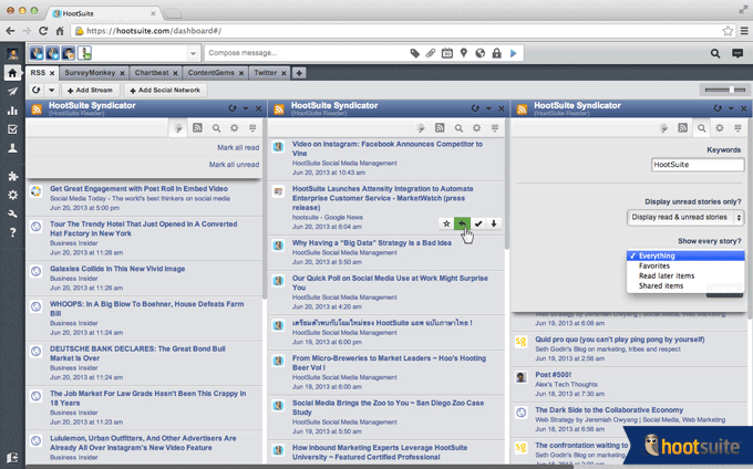 Hootsuite Syndicator RSS Feed