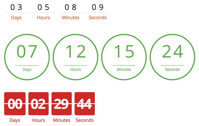 Thrive Content Builder Countdown Timers