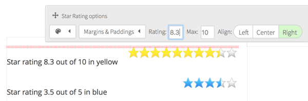 Thrive Content Builder Star Rating Function