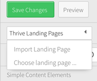 Thrive Landing Page Option