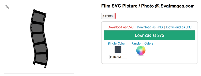 Film negative SVG