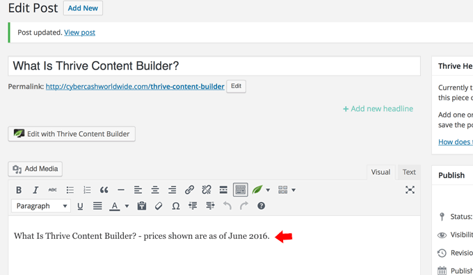 Addition in WordPress editor