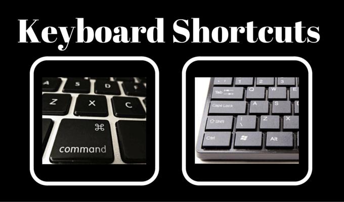 Basic Keyboard Shortcuts
