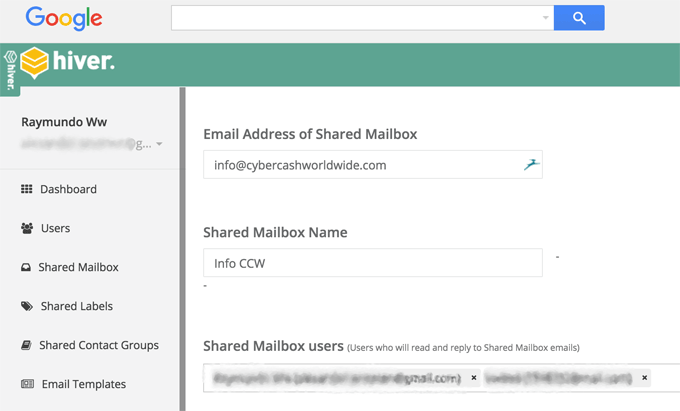 Setting Up Shared Mailbox