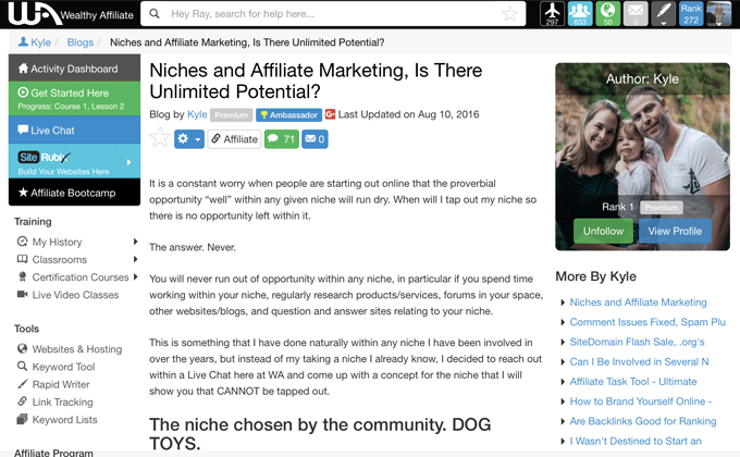 Niches In Affiliate Marketing - Why Possibilities Are Endless