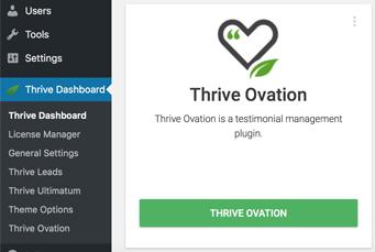 Thrive Ovation Dashboard