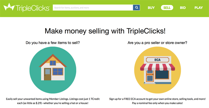 SFI TripleClicks Sell Your Items