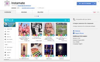 Instamate Chrome Extension