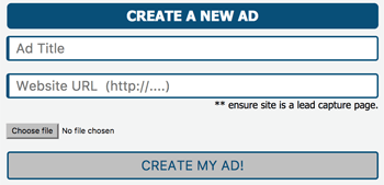 Create a new ad Kris Clicks