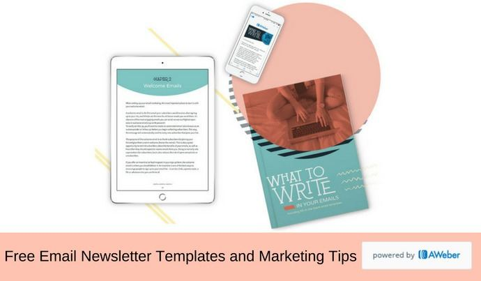 free email newsletter templates and email marketing tips aweber - Free Email Newsletter Templates