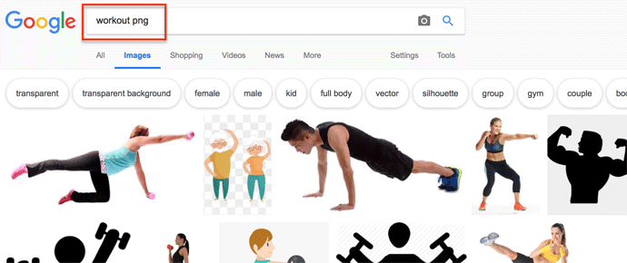 Google search 'workout png'