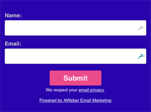 Aweber Opt-in Form