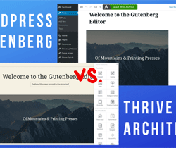 Gutenberg or Thrive Architect