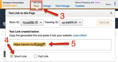 Amazon Text Link