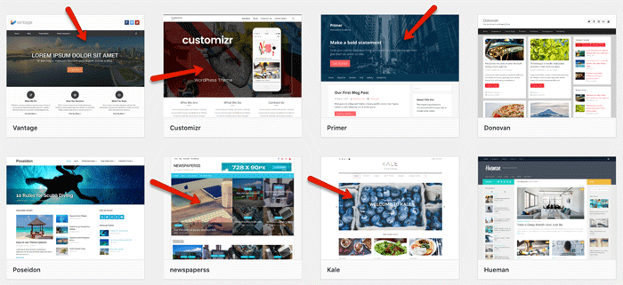 Landing Page Ready Themes