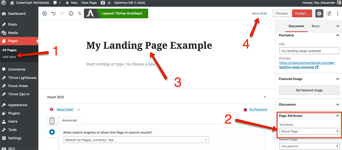 My Landing Page Example
