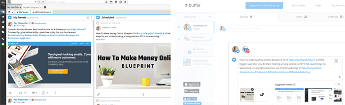 Hootsuite and Buffer