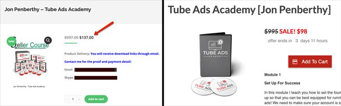 Tube Ads Academy Sale