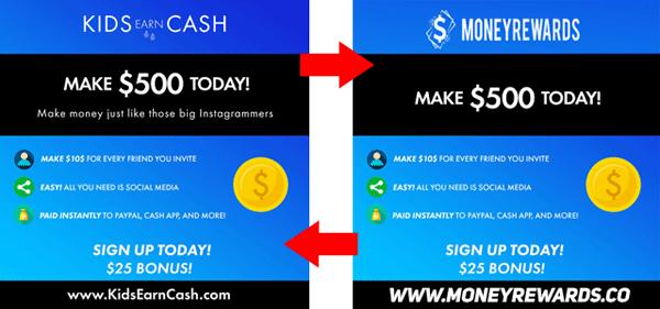 Kids Earn Cash Money Rewards