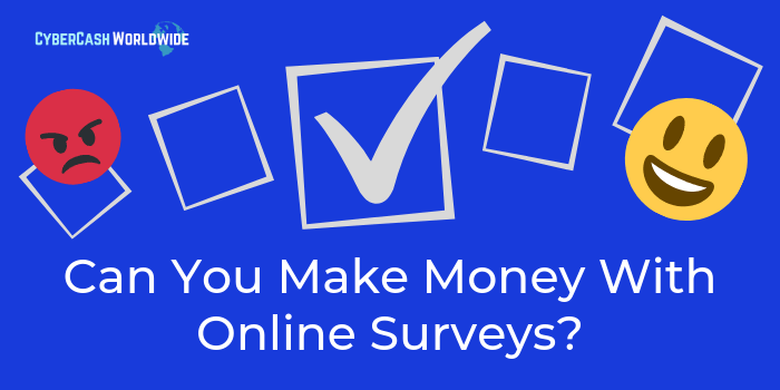 Can You Make Money With Online Surveys? [1/20th of the Minimum Wage]