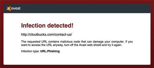Clout Bucks Phishing Scam