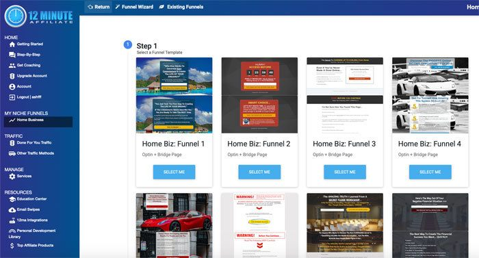 Select Funnel Templates