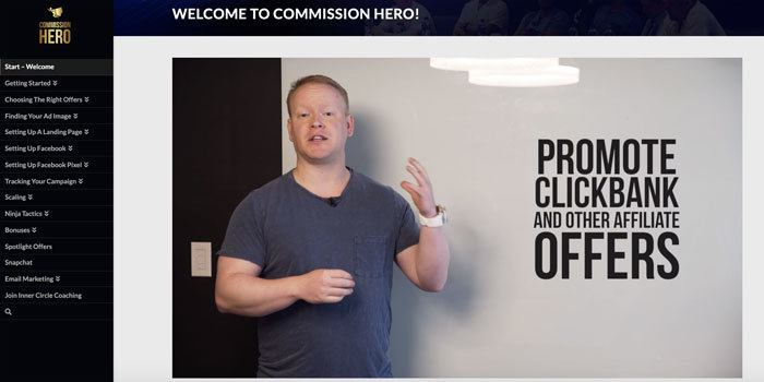 Commission Hero  Affiliate Marketing Preview