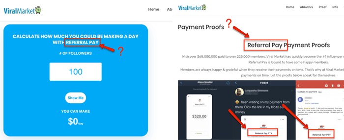 ViralMarket ReferralPay