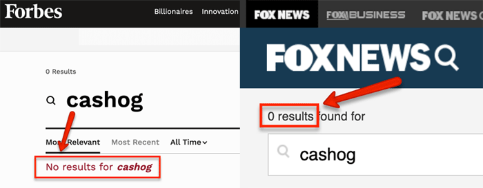 Forbes and Fox News
