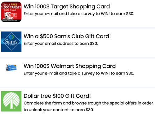 MoneyChaser Fake Prizes
