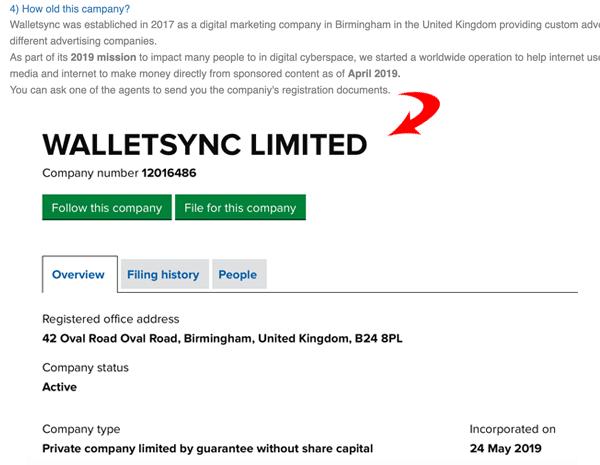 WalletSync Limited