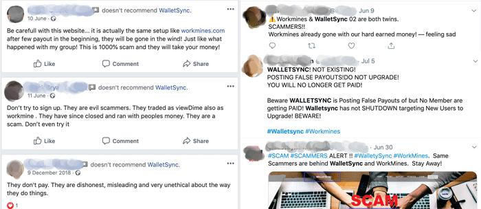 WalletSync Scam Complaints