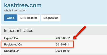 KashTree Domain Registration