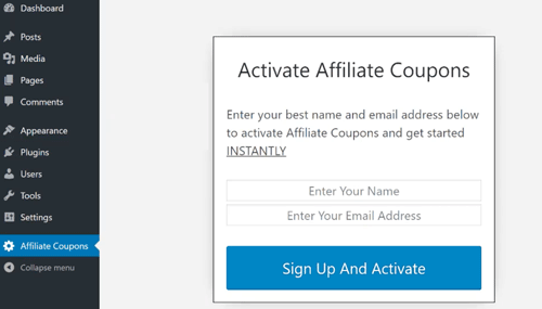 Activate Affiliate Coupons
