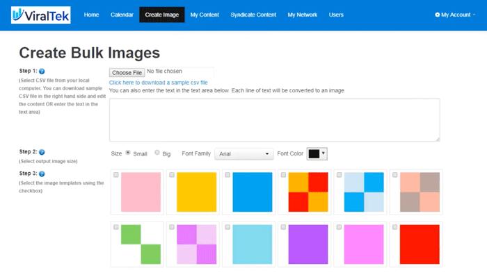 Create bulk images