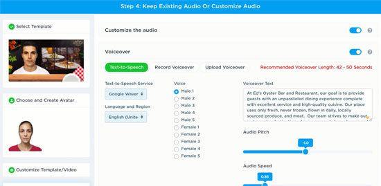 Customize audio