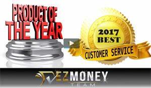 EZ Money Team Best Customer Service Award