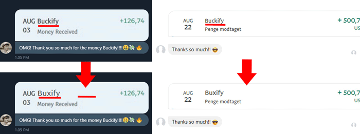 Buxify Fake Payment Proofs