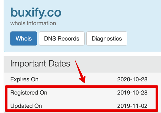 Buxify.co Whois Lookup