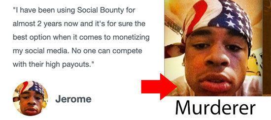 Social Bounty Fake Testimonial 2