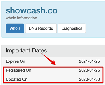 showcash site registration