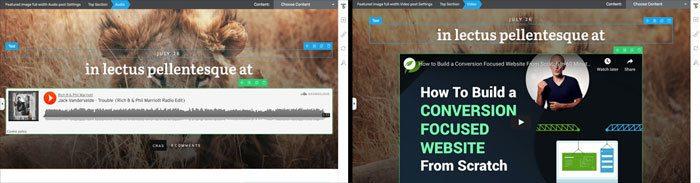 Default audio & video posts